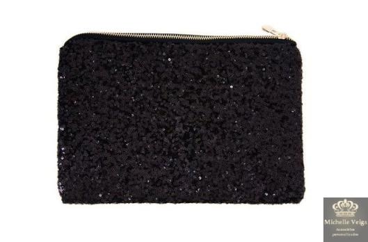 Bolsa paetes, clutch paetes, venda online, comprar acessórios, clutch, paetes preto, clutch com brilho