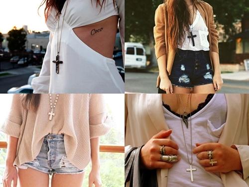 colar cruz, colar crucifixo, colar longo, como usar, looks com colar cruz, cross necklace, tendencia, loja online