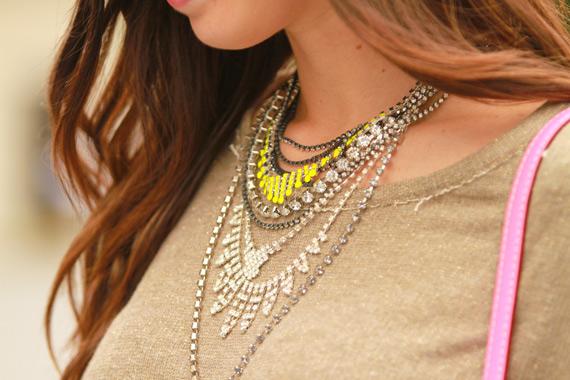 mix de colares, mistura de colares, varios colares, como usar, dicas de uso, looks com, moda em joinville