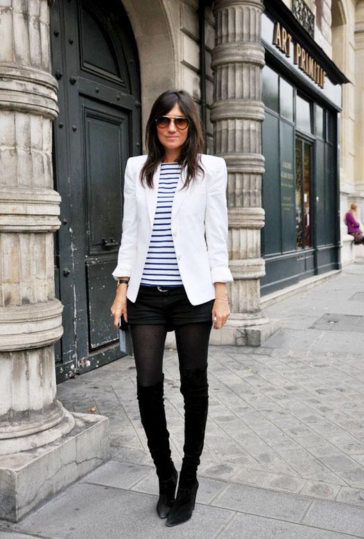 Blazer branco, look com blazer branco, inverno 2013, moda em joinville,