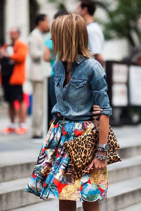 Mix de estampas, jeans, look do dia, dicas de como usar