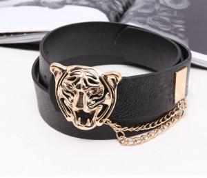 cinto animal face, cinto comprar online, preto com tigre, cinto de tigre, acessórios