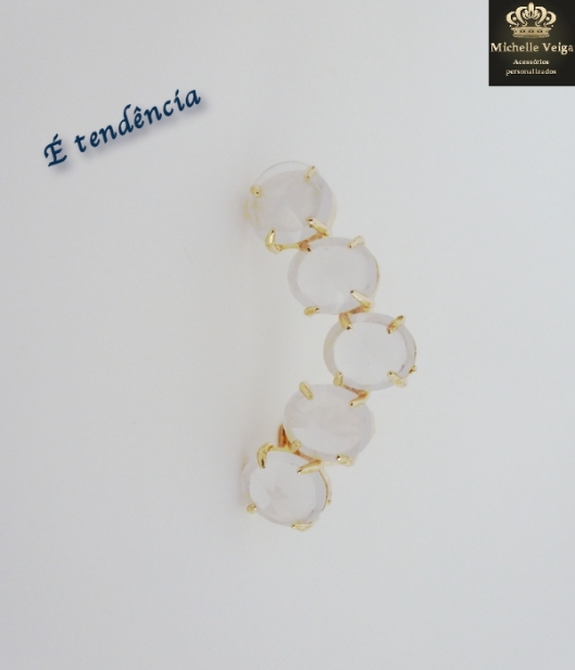 earcuff, ear cuff, pedras brancas, pedras, dourado, chique, comprar, online, loja online
