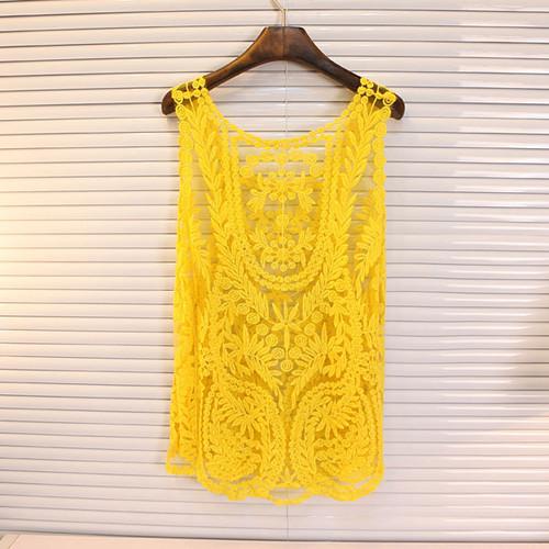 Regata de renda amarela, regata rendada, renda colorida, regata amarela, verao2014, primavera2014, loja online, comprar roupas, com renda